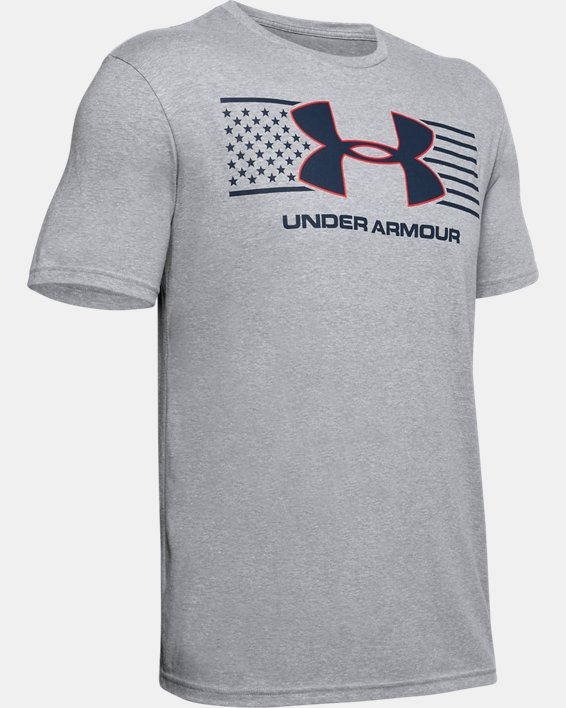 Men's UA Americana Big Logo T-Shirt, Gray, pdpMainDesktop image number 4
